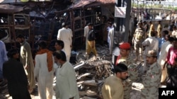 File photo of a bomb attack at the Sibi railway station in Balochistan.