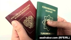 Rus we türkmen pasportlary