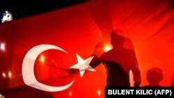 عکس از تجمع هواداران حکومت ترکیه پس از کودتای نافرجام
