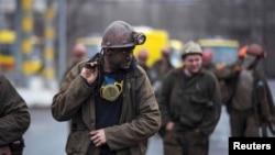 Гірники однієї із шахт Донеччини, фото ілюстративне