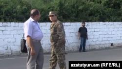Полковник Артак Будагян и его адвокат в Горисе (архив)