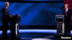 Boris Tadić i Tomislav Nikolić u TV duelu pred drugi izborni krug, 16. maj 2012.