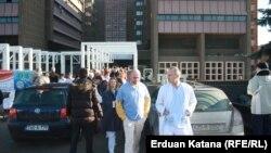 Protest zdravstvenih radnika u Banjaluci, 25. decembar 2015.