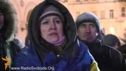 Усенароднае веча на Майдане 22 студзеня