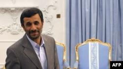 Iranian President Mahmud Ahmadinejad at the presidential palace in Tehran in June