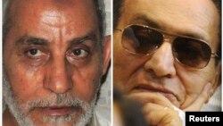 حسنی مبارک، دیکتاتور پیشین مصر، (راست) و محمد بدیع، رهبر بازداشتشده اخوانالمسمین مصر هر دو متهماند که «سهلانگاری» یا «اقدام» آنها به مرگ شهروندان انجامیده است