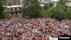 Митинг оппозиции в Ереване. 2 июля 2009 г.