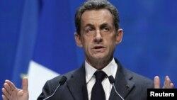 Ֆրանսիայի նախագահ Նիկոլա Սարկոզին ելույթ է ունենում Եվրոպական ժողովրդական կուսակցության համագումարին, Մարսել, 8-ը դեկտեմբերի, 2011թ.