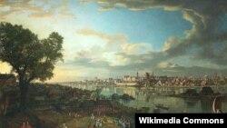 Бэрнарда Бэлёта (Каналета), «Від на Варшаву ад кварталу Прага» (1770).
