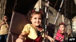 Дети в пригороде Дамаска, Сирия. Иллюстративное фото.
