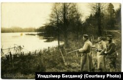 Нямецкі патруль на возеры Споры, 1917 год