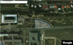 უნივერსიტეტის ქუჩაზე გამოყოფილი მიწის ნაკვეთი