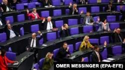 Заседание парламента (Бундестага) Германии