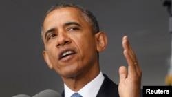 الرئيس الأميركي باراك أوباما يتحدث في أكاديمية ويست بوينت الحربية