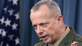 The commander of NATO-led troops in Afghanistan, General John Allen