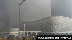 Tashkent City ҳудудида ёнғин содир бўлди