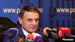 Начальник Полиции Армении Валерий Осипян на пресс-конференции, Ереван, 24 июля 2019 г.