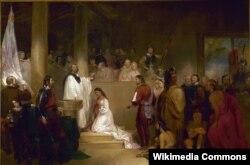 Джон Гэтсби Чапмен. Крещение Покахонтас. 1840
