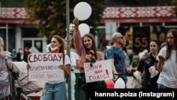 Мирная акция против официальных результатов президентских выборов в Борисове, городе в Беларуси.