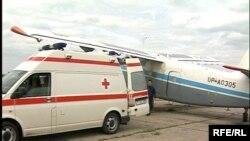 Самолет службы санитарной авиации Северо-Казахстанской области. Май 2009 года.