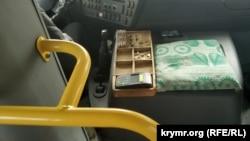 Валидатор для оплаты проезда в частном маршрутном автобусе