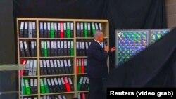 Биньямин Нетаньяху продемонстрировал иранский «ядерный архив», Тель-Авив, 30 апреля 2018 года