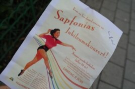 Плакат юбилейного концерта лесбийского хора Saphonia