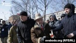 Задержание активистов на площади Якуба Колоса в Минске, Беларусь, 25 марта 2018 года