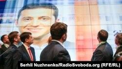 В избирательном штабе Владимира Зеленского