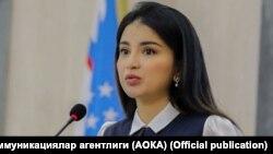 Prezident Shavkat Mirziyoevning to'ng'ich qizi, Prezident ma'muriyati huzuridagi Axborot va ommaviy kommunikatsiyalar agentligi direktori o'rinbosari Saida Mirziyoeva.