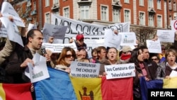 Молдовадагы каршылык чарасы, 12 апрель 2009