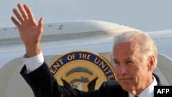U.S. Vice President Joe Biden upon his arrival in Tbilisi