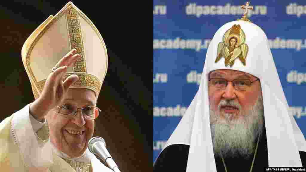 Папа Франциск и патриарх Кирилл– первые главы Римско-католической церкви и РПЦ, которые пообщаются лично.