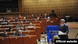 Նախագահ Սերժ Սարգսյանը ելույթ է ունենում ԵԽԽՎ-ում, Ստրասբուրգ, 22 հունիս