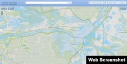 Адміністративний кордон між Кримом і Севастополем в районі села Верхньосадове згідно з публічною кадастровою картою України