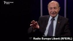 Traian Băsescu în studioul Europei Libere de la Chișinău