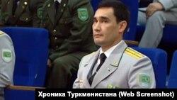 Түркіменстан президентінің ұлы Сердар Бердімұхамедов. (Онлайн-трансляциядан скриншот.)