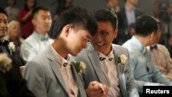 Свадьба однополой пары в США. Иллюстративное фото.