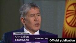 """Алмазбек Атамбаевдин """"Россия"""" каналына берген маегинен. 17-октябрь, 2015-жыл."""