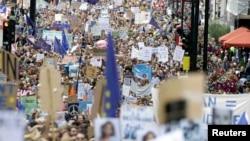Марш в знак протеста против Brexit'а. Лондон, 2 июля 2016 года.
