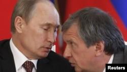 Ռուսաստանի նախագահ Վլադիմիր Պուտին և «Ռոսնեֆտ»-ի ղեկավար Իգոր Սեչին, արխիվ