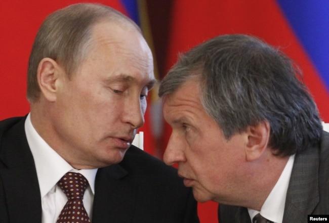 Володимир Путін та Ігор Сєчін