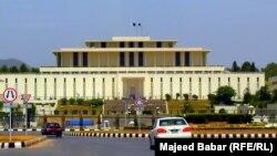 ساختمان پارلمان پاکستان در اسلامآباد.