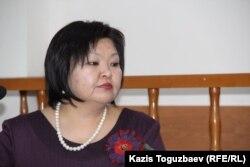 Жанара Балгабаева, адвокат гражданского активиста Ермека Нарымбаева, обвиняемого в возбуждении национальной розни.