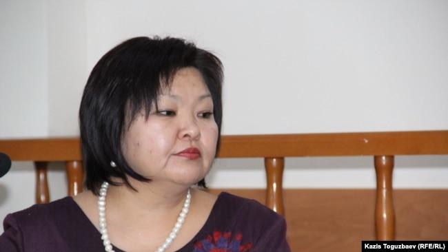 Жанара Балгабаева, адвокат активиста Алмата Жумагулова.