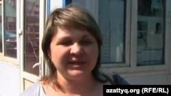 Активистка ипотечников Юлия Ширяева. Алматы, 8 августа 2014 года.