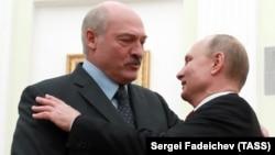 Ռուսաստանի նախագահ Վլադիմիր Պուտինը Կրեմլում ընդունում է Բելառուսի նախագահ Ալեքսանդր Լուկաշենկոյին, Մոսկվա, 29-ը դեկտեմբերի, 2018թ․