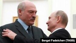 Путин встречает Лукашенко в Кремле в декабре 2018 года
