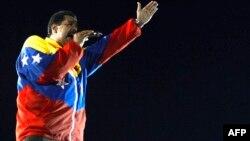 Новий президент Венесуели Ніколас Мадуро під час виступу на одному з мітингів перед виборами