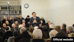 პრეზიდენტ მიხეილ სააკაშვილის შეხვედრა პენსიონერებთან რუსთავში